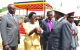 Nebbi political leaders wellcome President Museveni at the function