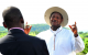 President Yoweri Museveni on inspection of the controversial land proposed for A
