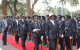 President Museveni inspecting guard of honor at the state of nation address cere