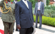 President Museveni at a Presidential salute