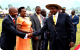 Area MP Kyammadidi wellcoming President Museveni