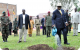 President Museveni planting a tree at Rwemiyenje Memorial site