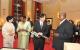 (L-R)Princess Kiko,First Lady Janet Museveni,Prince Akishino and President Musev