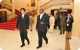 President Museveni gives the Prince a State House tour