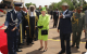 Police Chief Kale Kayihura invites the Queen to inspect a Guard of Honour