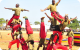 UPDF acrobats entertain guests at the 26th NRM Anniversary