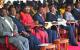 L-R DS Olanyah,  CJ Odoki, Speaker Kadaga, Kenya's VP Kalonzo, President Museven