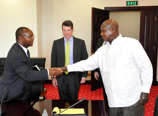 President Museveni receives Barclays Bank Uganda MD Charles Ongwae