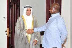 President Yoweri Museveni receiving the Speaker of the parliament of the State o