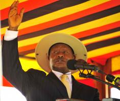 President Museveni delivering his speech on the 26th Anniversary of the National